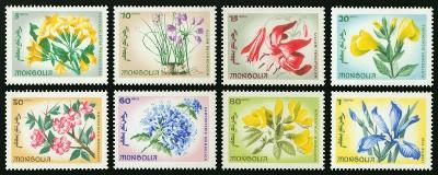 Mongolsko 1966 Známky Mi 435-442 ** květiny