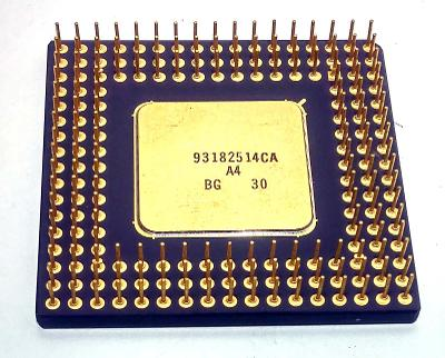 """PC MUZEUM - starý procesor i486DX2-66 """"zlatý"""" pro sběratele"""