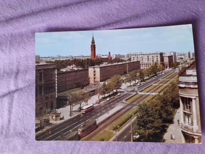 Pohlednice Varšava - Ulica Juliana Marchlewskiego,prošlé poštou