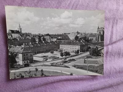 Pohlednice Varšava - Rynek Mariensztacki,prošlé poštou