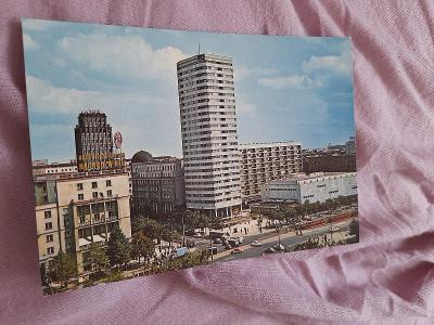 Pohlednice Varšava,r.1975,prošlé poštou
