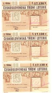 Třídní loterie   68  různé serie  3 x v celku