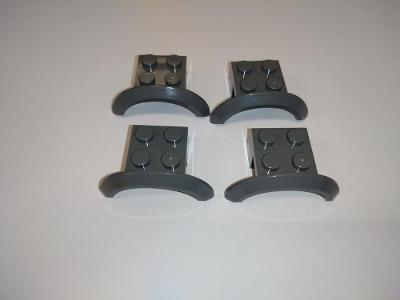 Lego díl 28579 - 4x blatník šedý