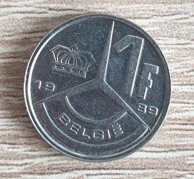 1 Frank - Belgie - 1989