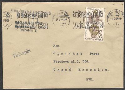 ČSSR 1965, olympiáda 1928 Amsterdam P1428, razítko stroj kniha = dárek