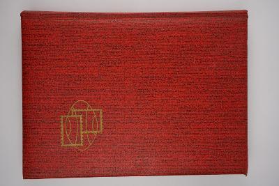 Sbírka známek jeden plný list