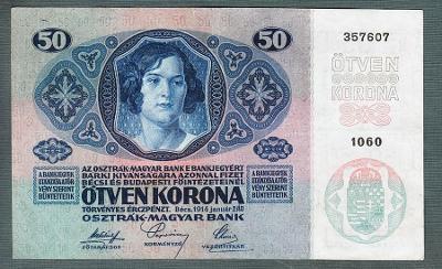 50 korun 1914 serie 1060 bez přetisku pěkný stav