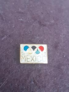 Odznak OH MEXICO 1968 - bílá varianta