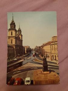 Pohlednice Varšava,r 1975,prošlé poštou