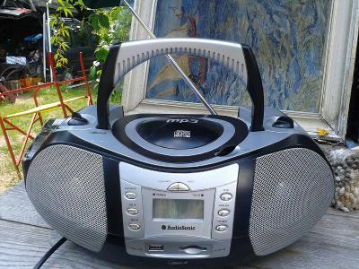 Přenosné audio AUDIOSONIC MP3-RÁDIO HRAJE, CD NE- viz foto