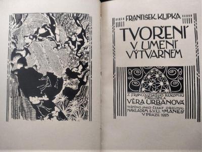 František Kupka. Tvoření u umění výtvarném / 1923