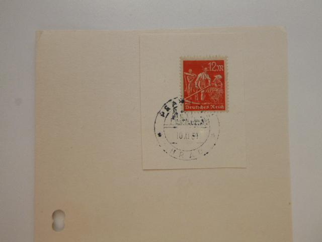 RARITA: kartička se zn. Deutsches Reich a razítkem PRAHA HRAD 10.X. 69 - Filatelie