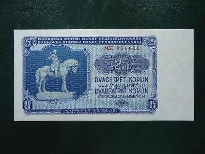 25 Korun 1953 Serie MH  Neperforovana UNC