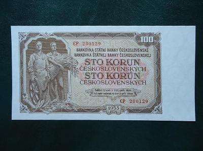 100 Korun 1953 Serie CP Neperforovana UNC