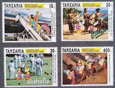Disney Tanzanie dětské, série 4ks známek