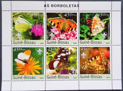 Guinea Bissau 2003, fauna, hmyz, motýli