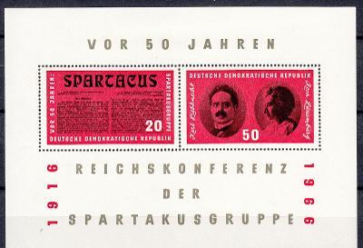 Německo / NDR / DDR 1966 Mi.1154-1155 (Bl.25) MNH** aršík