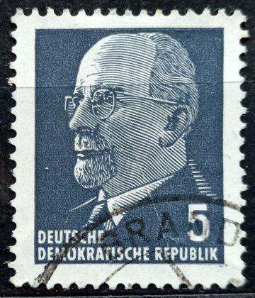 DDR: MiNr.845 Chairman Walter Ulbricht 5pf 1961