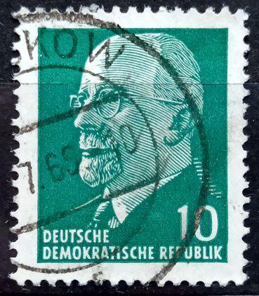 DDR: MiNr.846 Chairman Walter Ulbricht 10pf 1961