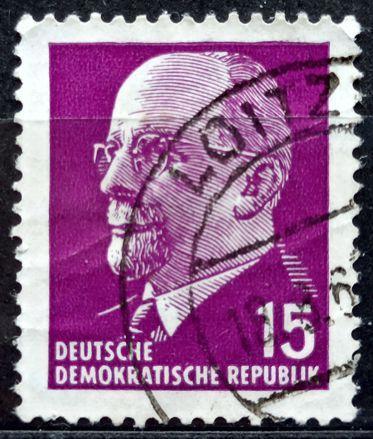 DDR: MiNr.847 Chairman Walter Ulbricht 15pf 1961