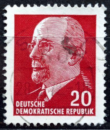 DDR: MiNr.848 Chairman Walter Ulbricht 20pf 1961