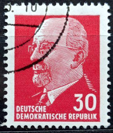 DDR: MiNr.935 Chairman Walter Ulbricht 30pf 1963