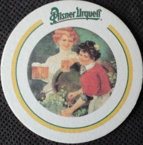Pivní tácek PILSNERR URQUELL-oboustranné