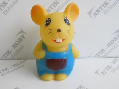 Gumová pískací hračka - MYŠKA