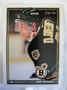 Don Sweeney #319 Boston Bruins 1991/1992 O-Pee-Chee