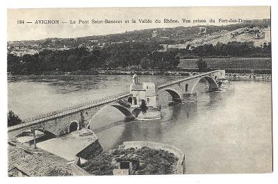 Pohlednice, Avignon, Francie, MF, 34/72