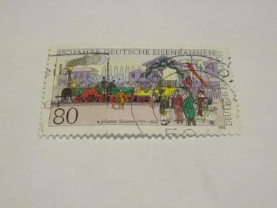 Prodávám známky BRD 1985, 150 let německé železnice