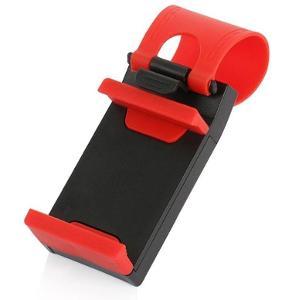 Držák na volant pro mobil do auta červené