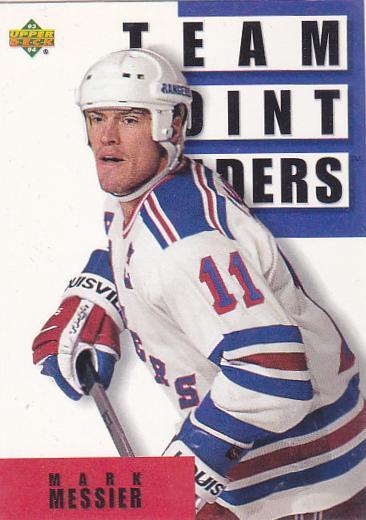 Mark Messier - New York Rangers - UD S1 - Team Point Leaders