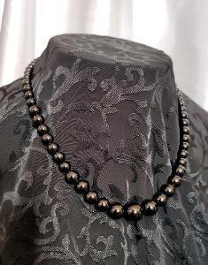 Onyx gradující korále náhrdelník