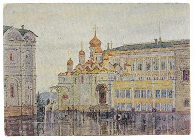 1 RUSKO - MOSKVA - KREML - KRESBA ROMODANOVSKÁ 1955