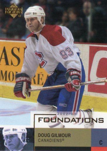 Doug Gilmour - Montreal Canadiens - UD Foundations - Sportovní sbírky
