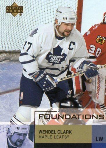 Wendel Clark - Toronto Maple Leafs - UD Foundations