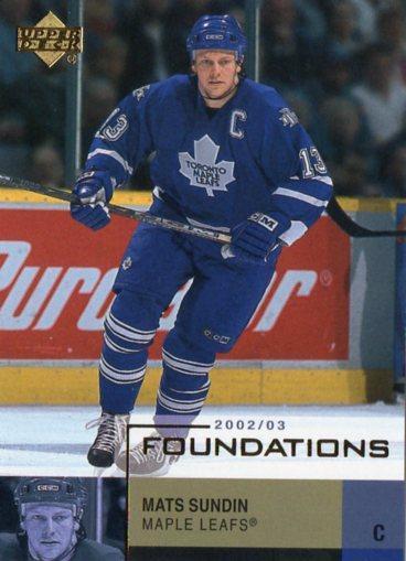 Mats Sundin - Toronto Maple Leafs - UD Foundations