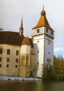 zámek Blatná - celkový pohled, zima