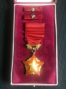 Řád rudé zástavy, zlacené stříbro, puncovaný, číslovaný, ORIGINÁL