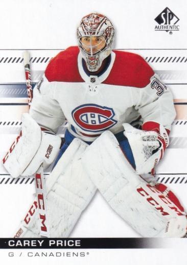 Carey Price - Montreal Canadiens - UD SP Authentic
