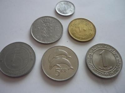 Ruzné mince-5.Ks. - 100.-