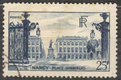 Francie 1946 Mi 762, Nancy náměstí Stanislavovo
