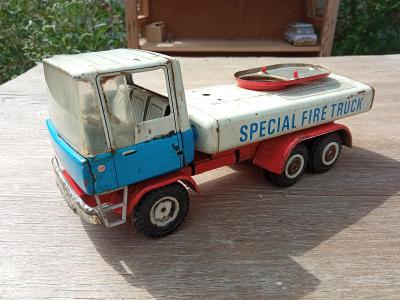 AUTO - PLECH - SPECIAL FIRE TRUCK - STARÉ