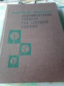 Sortimentačné tabulky pre listnaté dreviny. Čermák, Hubač, 1978