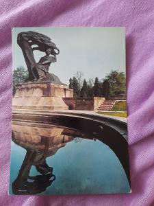 Pohlednice Varšava - Pomnik Fryderyka Chopina,prošlé poštou