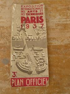 MAPA PAŘÍŽE 1937