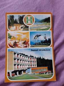 Pohlednice hotel Hrabovo,VEĽKÁ FATRA,prošlé poštou