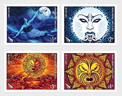 Nový Zéland 2021 Známky ** kosmos mytologie měsíc slunce