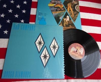 💥 LP: BAD COMPANY - ROUGH DIAMONDS, jako nová MINT!! 1.press USA 1982
